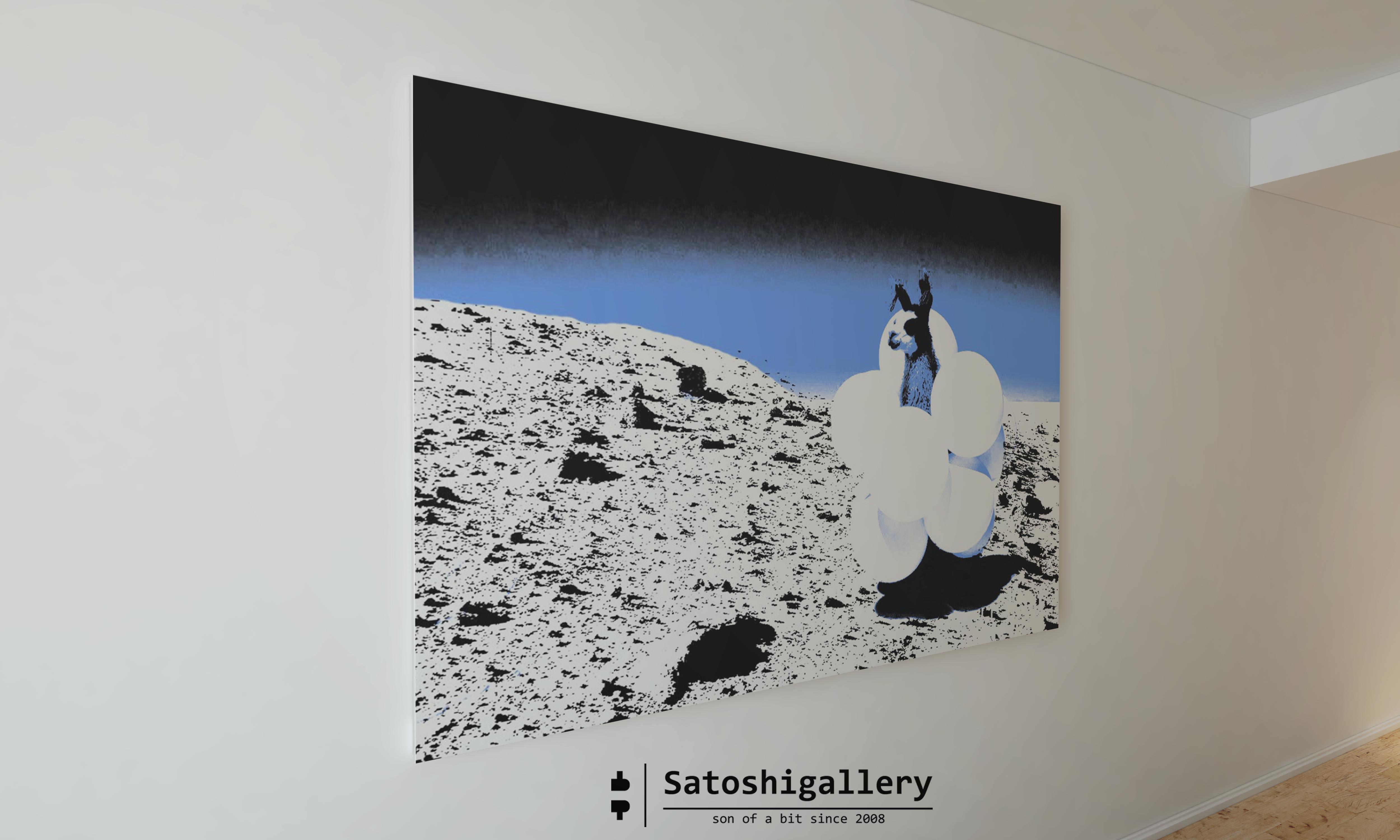 An alpaca to the moon