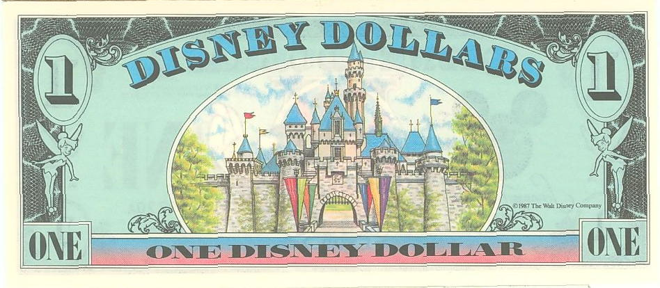 Disney (Dollar)1 Back